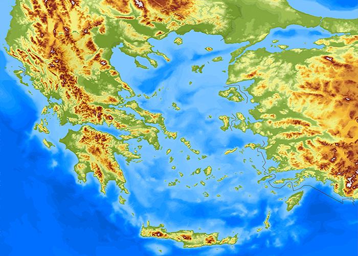 Ο χάρτης της Ελλάδας