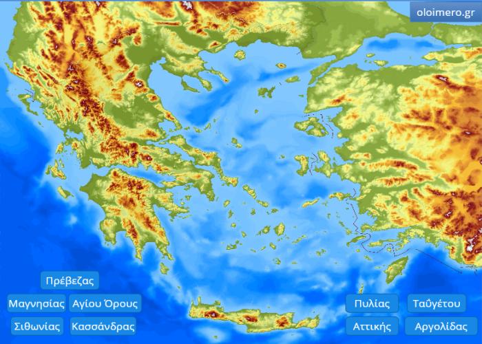 Οι ακτές της Ελλάδας